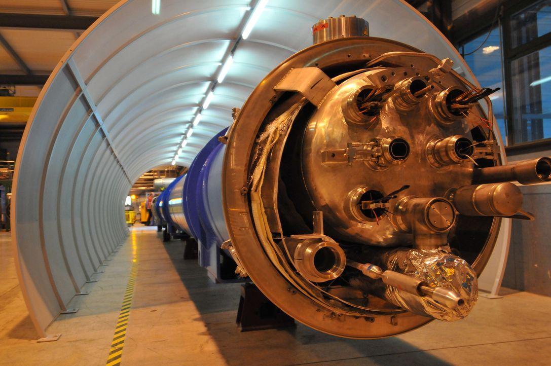 Der Large Hadron Collider (LHC) ist ein Teilchenbeschleuniger, der bezüglich Energie und Häufigkeit der Teilchenkollisionen der leistungsstärkste de... - Bildquelle: Molly Tait NGC Network International, LLC All rights reserved.