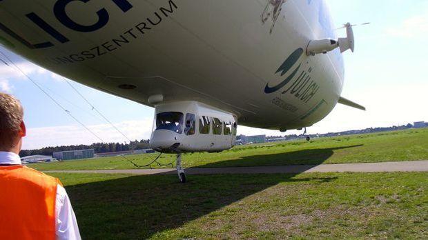 Die Passagiergondel ist eines der typischen Merkmale eines Zeppelins.