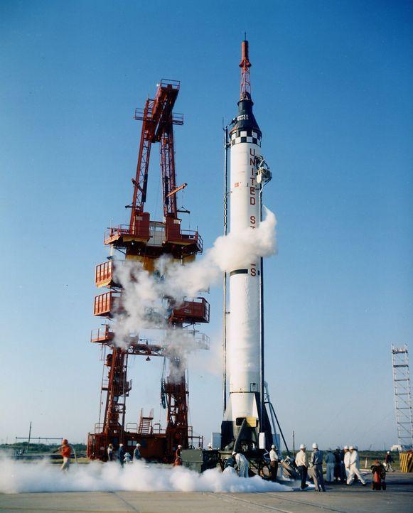 """Einer der größten Momente der NASA-Geschichte: Der Start des Raumschiffs """"Freedom 7"""" am 5. Mai 1961 war der zweite bemannte Flug in der Geschichte d... - Bildquelle: NASA"""