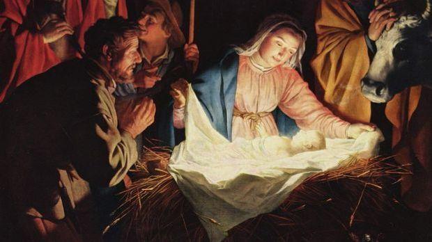 Die Geburt des Jesuskindes im Stall von Bethlehem ist nicht den Fakten, sonde...
