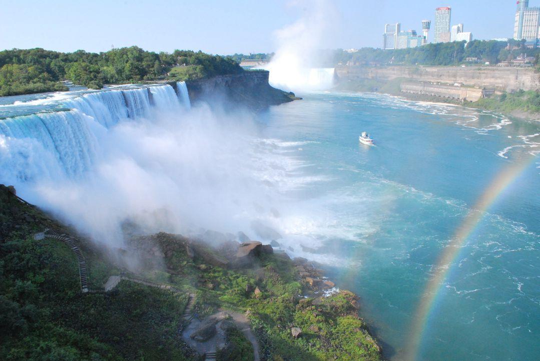 Freiluft Museum: In der Nähe des Daredevil Museums bei den Niagara Fällen ist ein riesiges Fass aufgebaut. Dieses ist speziell für verrückte Stunts... - Bildquelle: 2012,The Travel Channel, L.L.C. All Rights Reserved