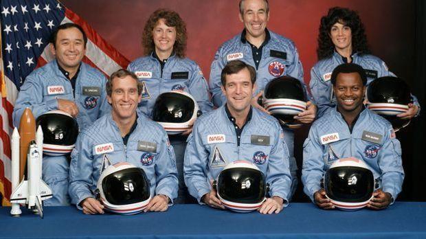 Die Crew an Bord der Challenger