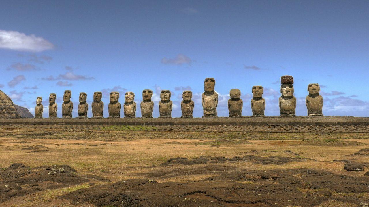 Riesige Steinskulpturen und ungewöhnliche Anordnungen gigantischer Felsen st... - Bildquelle: A&E Television Networks