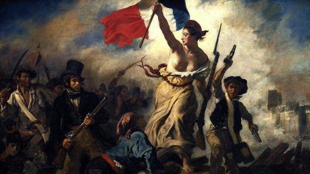 Französische Revolution - Die Freiheit führt das Volk (Eugène Delacroix)