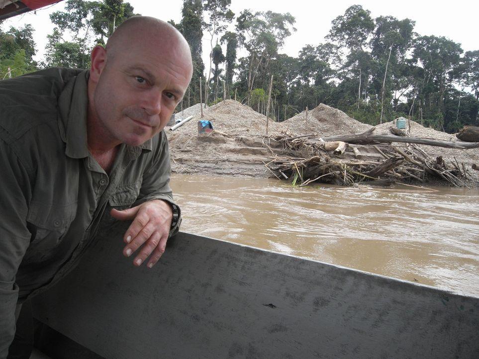 Ross Kemp zeigt, wie die globale Nachfrage nach Kokain zur Abholzung des Regenwaldes führt und dass der Anstieg des Goldpreises zur Folge hat, dass... - Bildquelle: Tiger Aspect Productions Limited 2010