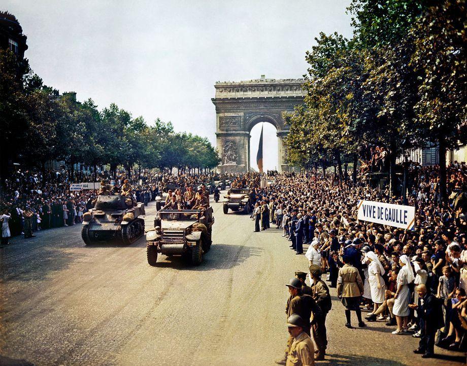 Die Befreiung Frankreichs war ein weiterer Wendepunkt, der zum Ende des Zweiten Weltkriegs führte. Viele Menschen erinnern sich daran als einen Mome... - Bildquelle: Vivendi Content and Lets Pix Productions