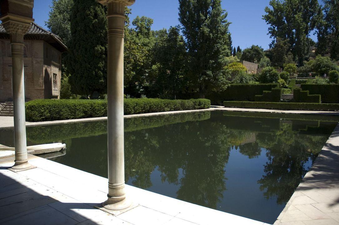Die Fertigstellung der Alhambra zog sich über Jahre.  Woher nahm der maurische Sultan Muhammad I das Wasser für die vielen Brunnen im Inneren seines... - Bildquelle: 2008 Darlow Smithson Productions Ltd, an IMG Entertainment Company. Parallax Film Productions Inc.