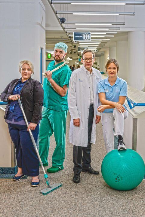 Niklas Wiechert (l.); Prof. Dr. med. Robert Rödl (m.); Nadine Speicher (r.) - Bildquelle: Kabel Eins