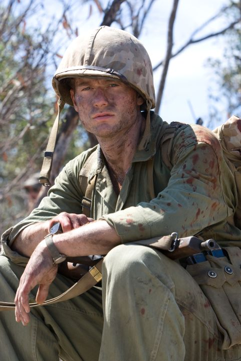 Kaum kommt Bob Leckie (James Badge Dale) zurück zur Kompanie, da geht's auch schon in die nächste Kriegshölle - nach Peleliu ... - Bildquelle: Home Box Office Inc. All Rights Reserved.