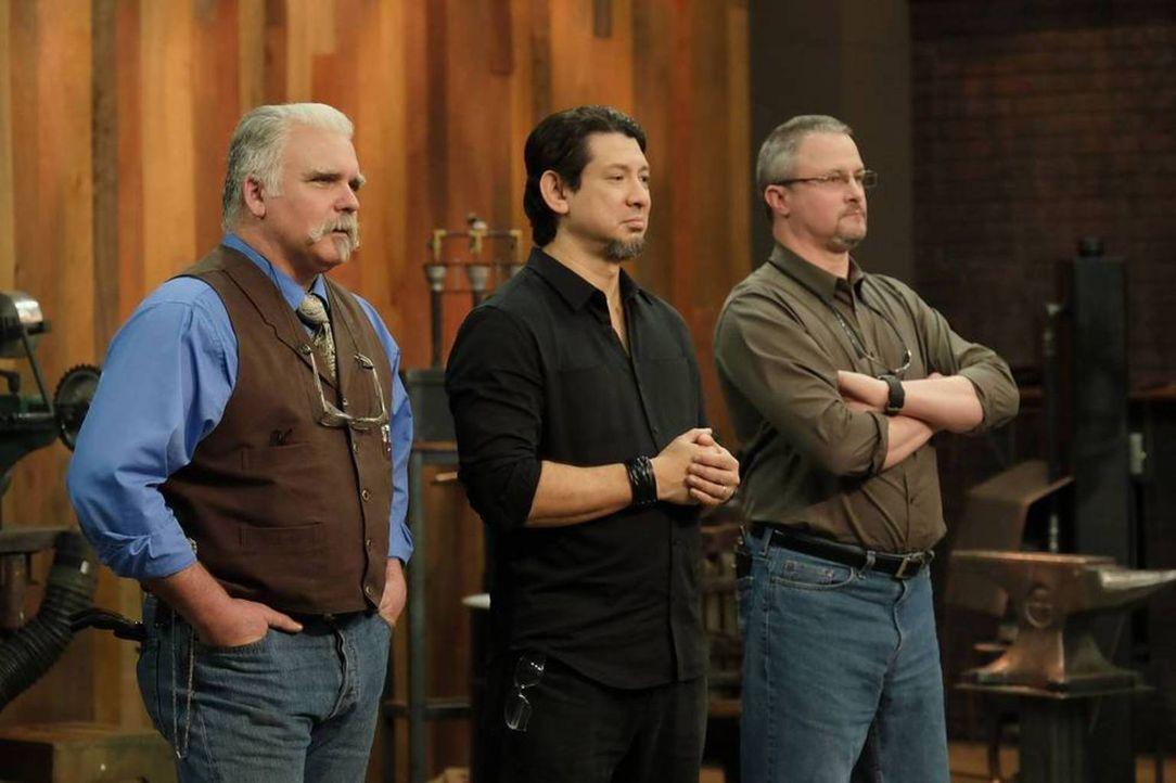 (v.l.n.r.) J. Neilson; Doug Marcaida; David Baker - Bildquelle: A&E Television Networks