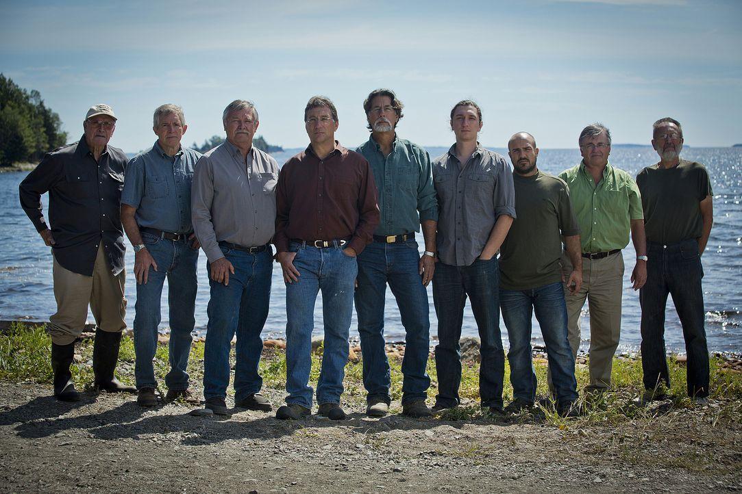"""Rick Lagina (M.) und sein Team geben alles, um das Geheimnis der legendären Eicheninsel """"Oak Island"""" zu lösen. Werden sie etwas finden? - Bildquelle: 2014 A&E Television Networks, LLC. All Rights Reserved/ PROMETHEUS ENTERTAINMENT"""