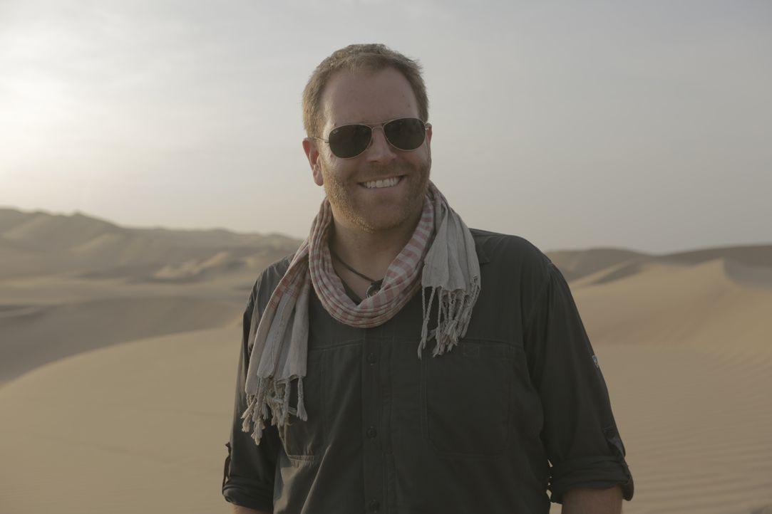 Josh reist nach Peru, um dort dem Phänomen der Geoglyphen des Nazca-Stammes auf die Spur zu kommen und macht dabei einige interessante Entdeckungen... - Bildquelle: 2015, The Travel Channel, L.L.C. All Rights Reserved.