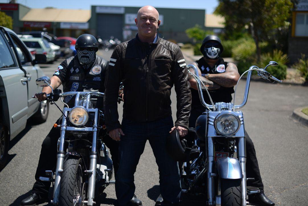 Die australische Polizei geht davon aus, dass Motorradclubs wie die Rebels oder die Hells Angels eine entscheidende Rolle im australischen Drogenhan... - Bildquelle: Freshwater Films Ltd 2015