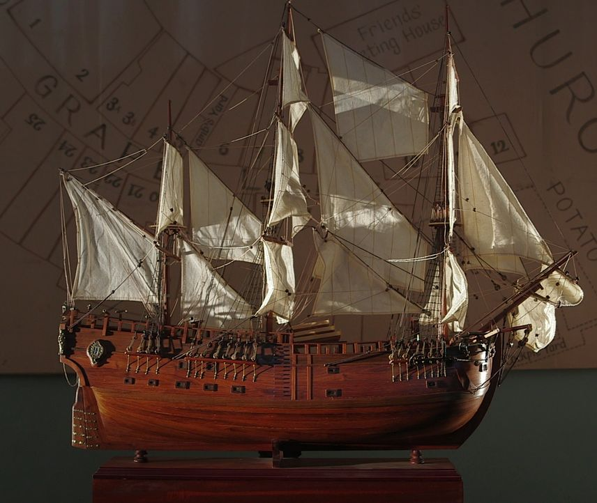Model der HMS Endeavour - Bildquelle: 2018, The Travel Channel, LLC. All Rights Reserved.