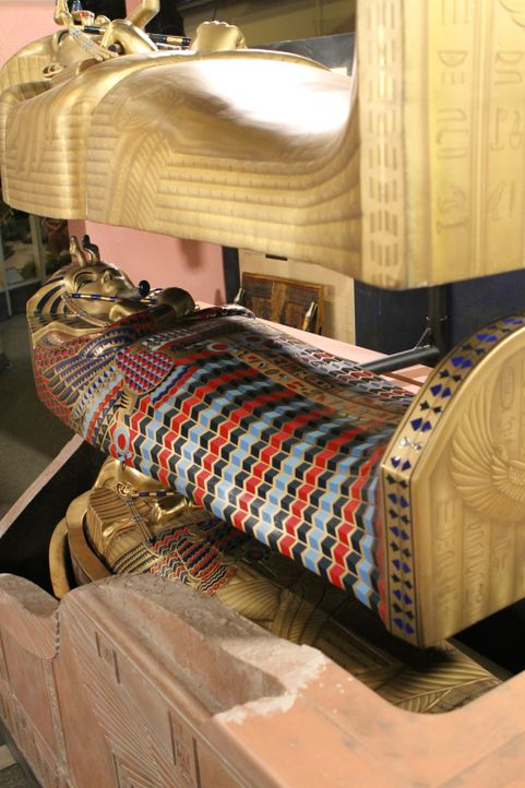 Das Museum-Men-Team kreiert ein Ausstellungsstück, das einen Bezug zu der berühmtesten Mumie der Welt - Tutanchamun - schaffen soll. - Bildquelle: 2014 A&E TELEVISION NETWORKS, LLC. ALL RIGHTS RESERVED.