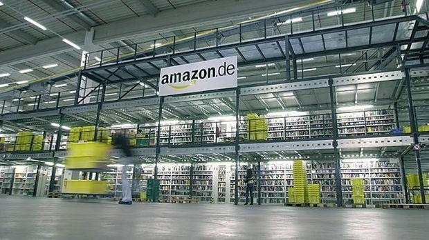Im Amazon-Lager setzt man bewusst auf chaotische Lagerhaltung.
