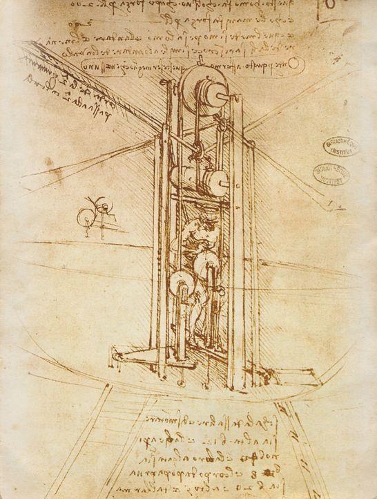 Als produktiver Erfinder baute Leonardo da Vinci unglaubliche Maschinen, die seiner Zeit oft weit voraus waren. Aber wie konnte er Pläne für solch f... - Bildquelle: Book: Leonardo by Trewin Copplestone