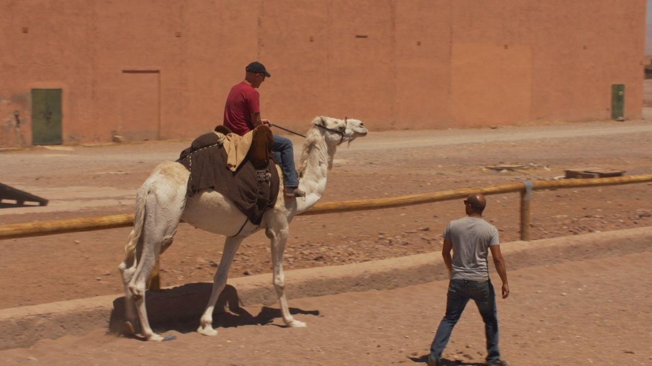 Der Unternehmer und Abenteurer Todd Carmichael (l.) macht einen kurzen Abstecher nach Marokko ... - Bildquelle: 2015, The Travel Channel, L.L.C. All Rights Reserved.