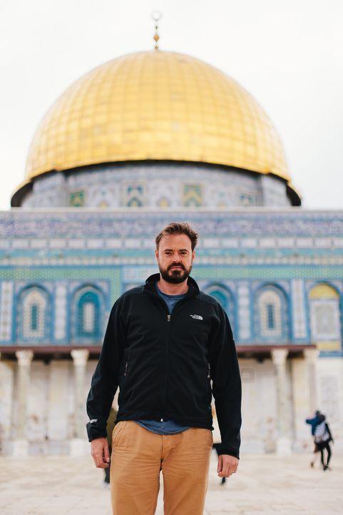 Jamie Theakston auf Spurensuche in Jersualem: Überlieferungen besagen, dass die Templer Jerusalem geplündert und riesige Mengen an Münzen und Gold s... - Bildquelle: LIKE A SHOT ENTERTAINMENT 2014