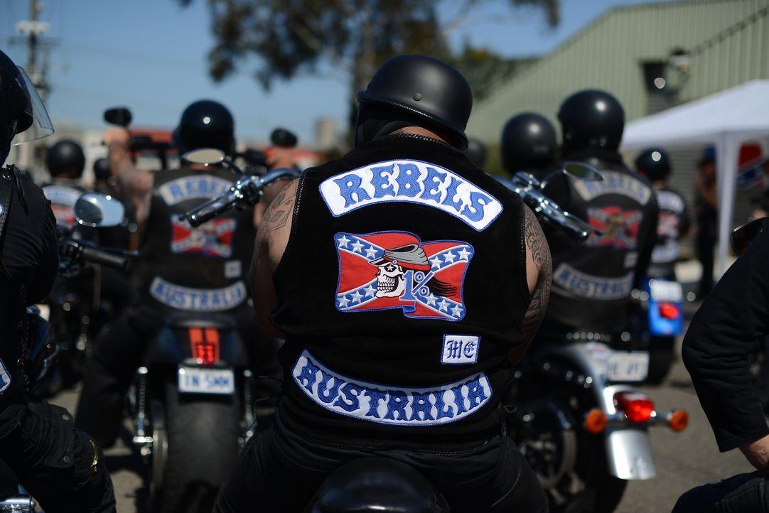 """Motorradclubs wie die Rebels oder auch die Hells Angels haben eine strikte """"Keine Medien""""- Regel, doch Ross Kemp gelingt es, in die Welt der Biker-G... - Bildquelle: Freshwater Films Ltd 2015"""