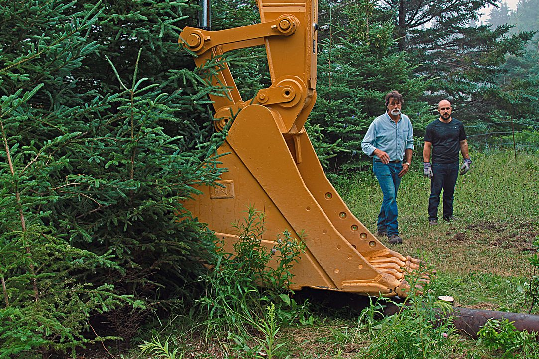 Die Brüder Rick (l.) und Marty Lagina und ihre Partner sind sich einig, dass nach Jahren der Planung die Zeit zum Graben gekommen ist. - Bildquelle: 2015 A&E TELEVISION NETWORKS, LLC. ALL RIGHTS RESERVED.