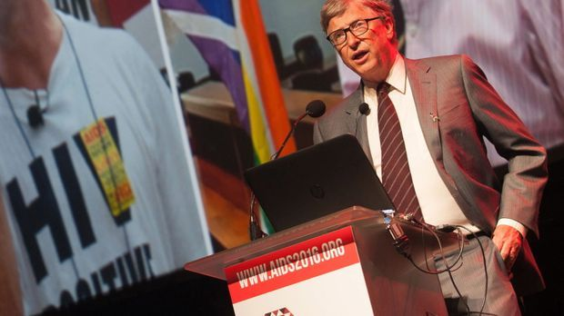 "Bill Gates während der ""International Aids Conference"" in Südafrika."