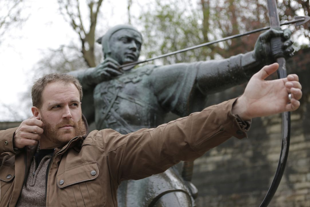 Um den Gesetzlosen Robin Hood ranken sich viele Mythen. Doch gab es ihn wirklich? Josh Gates will das herausfinden .. - Bildquelle: 2015,The Travel Channel, L.L.C. All Rights Reserved