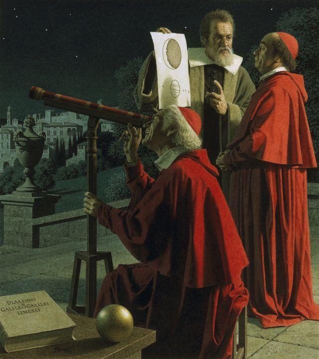 Seit Beginn der Menschheit blicken die Menschen in den Himmel und fragen sich nach ihren Ursprüngen. Im Jahr 1609 nutzte Galileo Galilei als erster... - Bildquelle: www.bridgemanart.com
