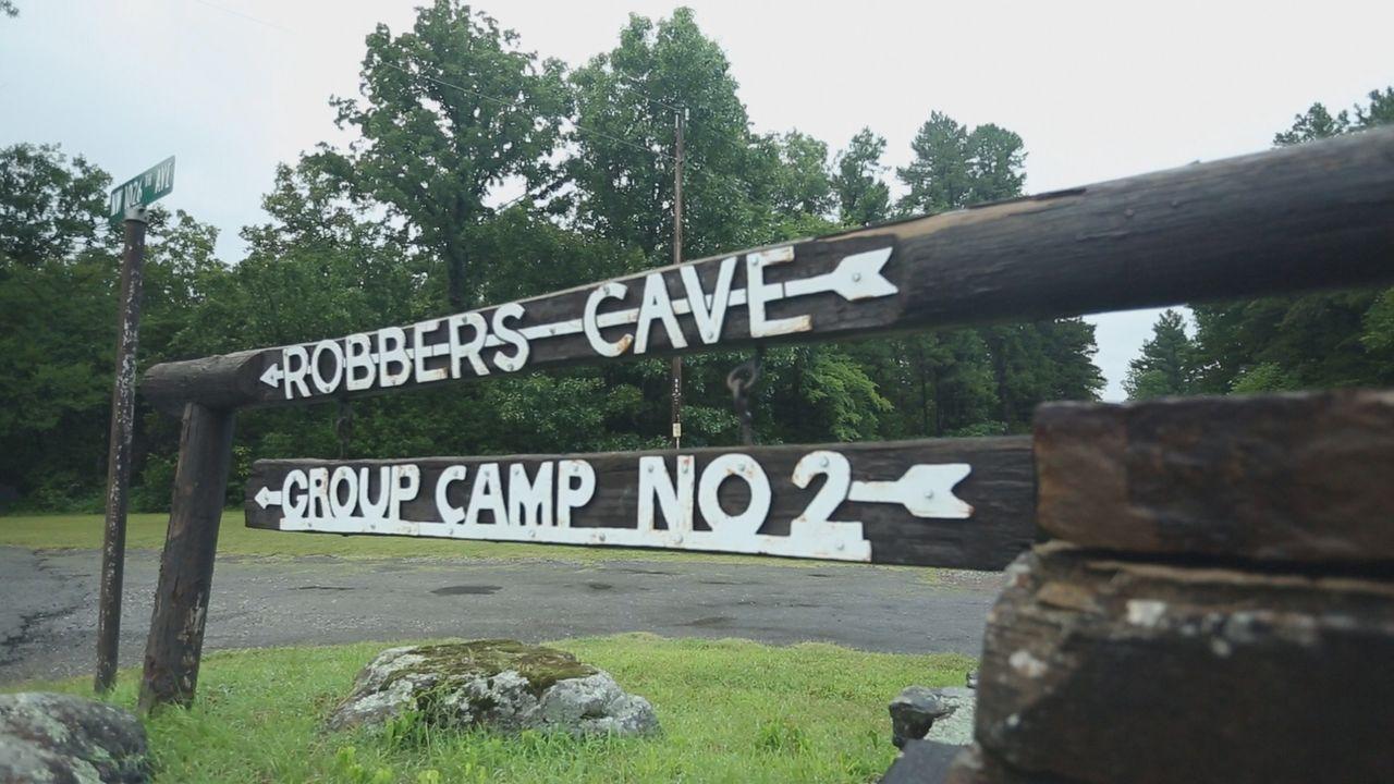 Robbers Cave State Park im Südosten Oklahomas soll im Wilden Westen bekannten Verbrechern wie Jesse James und Belle Starr als Versteck gedient haben... - Bildquelle: 2015, The Travel Channel, L.L.C. All Rights Reserved.