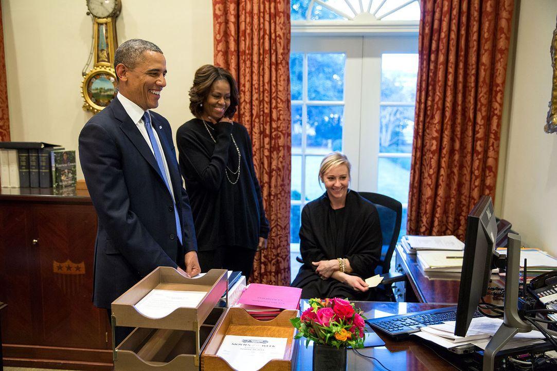 Barack Obama (l.); Michelle Obama (r.) - Bildquelle: Pete Souza The White House / Pete Souza