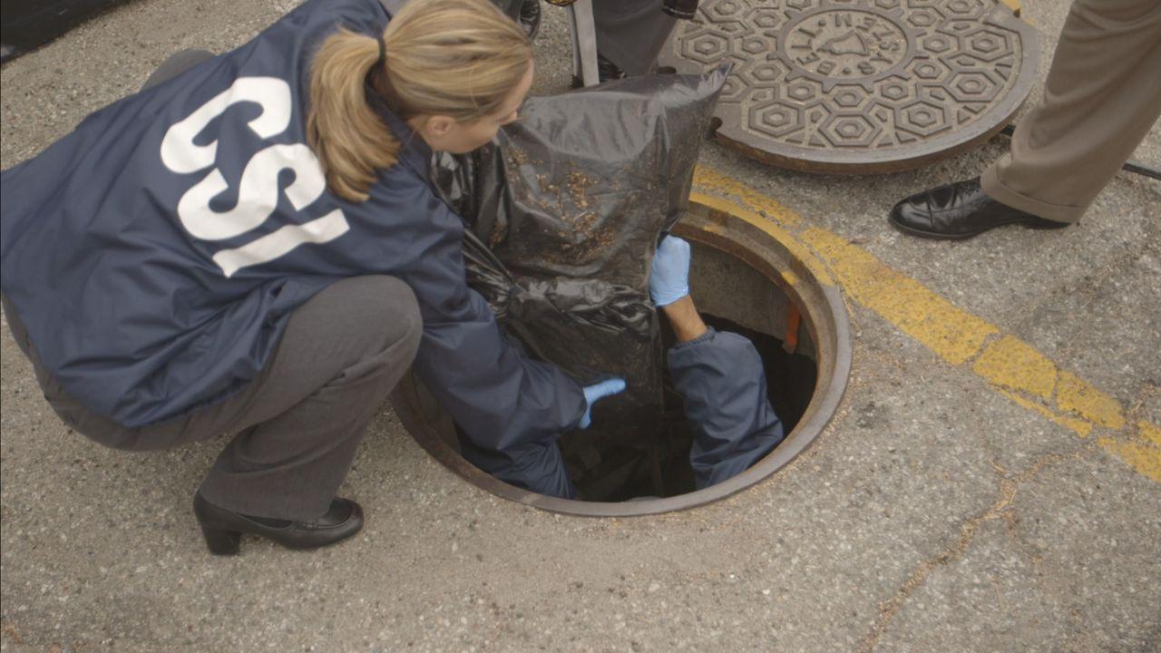 CSI-Ermittler bergen die Leiche von John Altinger, die Regisseur Mark Twitchell nach dem gefilmten Mord dort versteckt hat. - Bildquelle: LMNO Cable Group