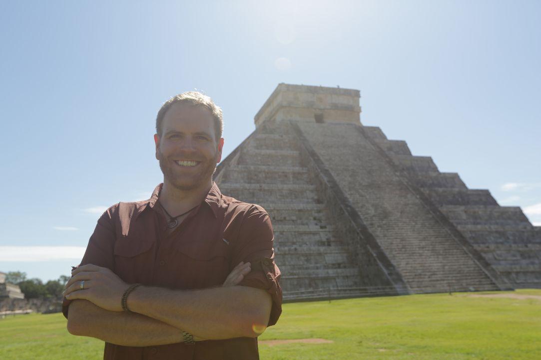 Um den Untergang des Maya-Reichs ranken sich viele Theorien und Mythen. Josh reist in den Dschungel und begibt sich auf Spurensuche ... - Bildquelle: 2015, The Travel Channel, L.L.C. All Rights Reserved.