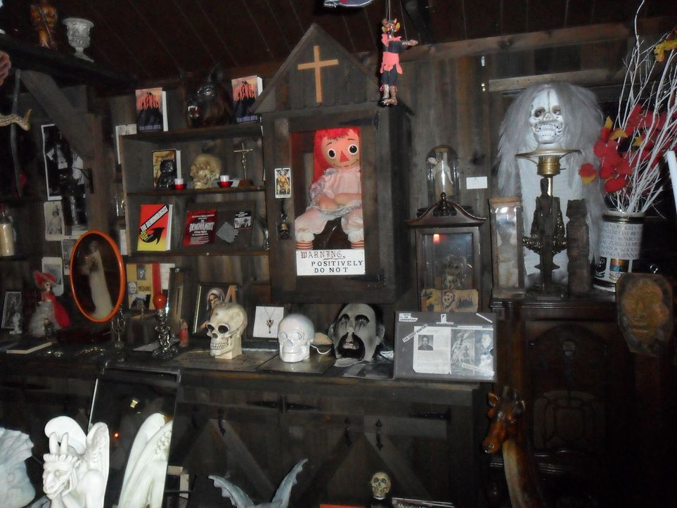 Im Warren's Occult Museum in Connecticut geht Don Wildman den Geheimnissen der gottlosen und angsteinflößenden Objekten auf den Grund: Ein echter Ho... - Bildquelle: The Travel Channel, L.L.C. All rights reserved.