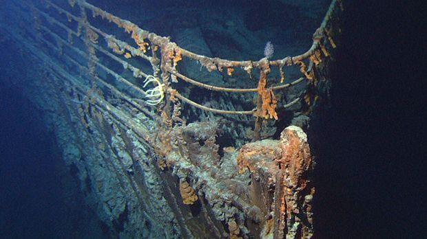 Der Bug der gesunkenen Titanic.