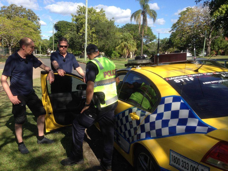 Zwischen Ozean und Outback entdecken Toto (M.) und Harry (l.) die pulsierende Metropole Brisbane. Und an der Gold Coast treffen sie auf die berühmte... - Bildquelle: kabel eins